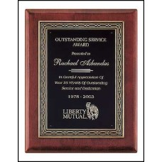 P3936 Rosewood Stained Piano Finish Plaque